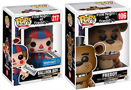 Scary Clown Jack In The Box (Funko Pop! Vinyl Five Nights At Freddy's Shadow Freddy #126 + Exclusive Balloon #217 Figure Set collectible bundle)
