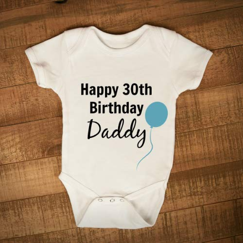 Happy 30th Birthday Daddy Baby grow Baby vest for Dads birthday Gift for daddy