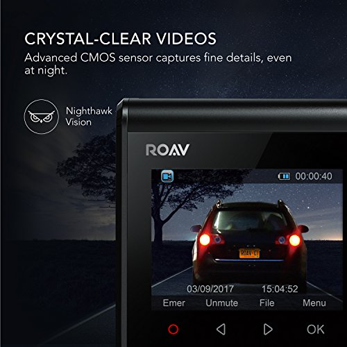 ROAV by Anker Dash Cam C1, Car Recorder with Sony Sensor, 1080P FHD, 4-Lane Wide-Angle View Lens, Built-in WiFi with APP, G-Sensor, WDR, Loop Recording, Night Mode, Parking Mode [Upgraded Version] by ROAV (Image #2)