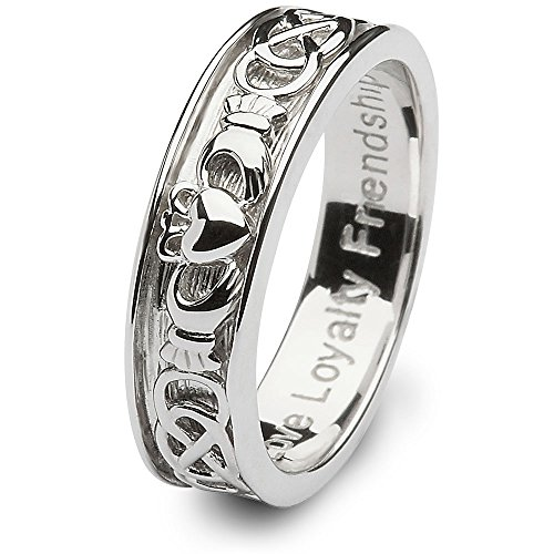 Mens Claddagh Wedding Ring SM-SD9 - Size: 9 Made in Ireland.