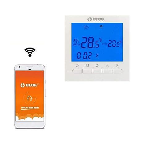 Beok BOT-313 WiFi termostato se puede controlar por APP calefaccion digital programable controlador,