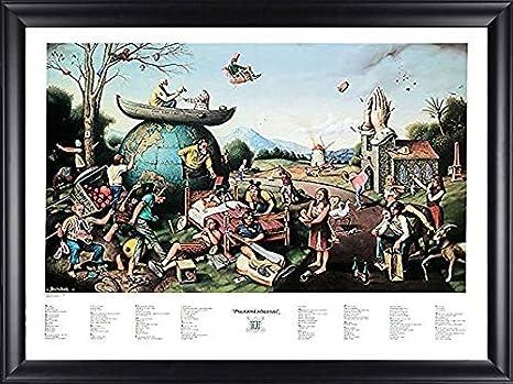 Laminated Proverbidioms II by T E Breitenbach Fantasy Weird Odd Strange Urban Poster 28x22 inches