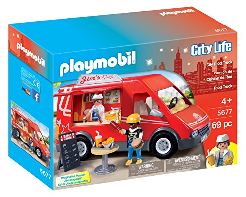PLAYMOBIL City Food Truck Playset (Hot Dog Truck Toy compare prices)