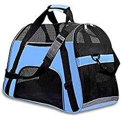 PPOGOO Pet Travel Carriers Soft Sided Portable Bags Dogs Cats Airline Approved Dog Carrier(2018 Upgraded Version)