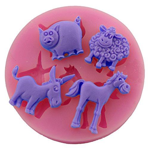 Let'S Diy Cake Decorating Cartoon Pig Sheep Horse Shaped Silicone Mold Fondant Fondant Sugar Art Tools