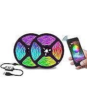 Bluetooth 5M RGB LED Strip Lights 5050 12V USB Color Changing TV PC Back Light
