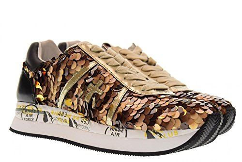 PREMIATA Shoes Woman Low Sneakers Conny 2968 Brown dMvFdGm086