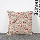 BETTERLIFE Flamingo Pillow Case Pillowcase Animal Cartoon Cotton Linen Throw Pillow Case Cover Vintage Beds Cushion Saddle Pad Mat Cases