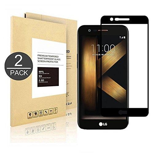 LG K20 Plus ,[2 Pack] Linboll Tempered Glass Full Coverage HD Ultra Clear Film Edge to Edge Protection Shield Screen Protector for LG K20 Plus/K20V/K20V (Verizon)/LG Harmony/LG V5/LG K10 - Smudge Easily Glasses