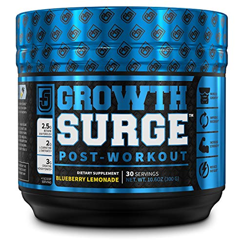 Growth Surge Post Workout Muscle Builder with Creatine, Betaine, L-Carnitine L-Tartrate - Daily Muscle Building & Recovery Supplement - 30 Servings, Blueberry Lemonade Flavor