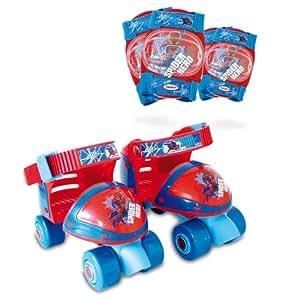 SPIDERMAN - Caja con patin de ruedas + protecciones