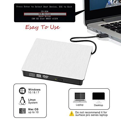 External CD Drive. GuanD USB 3.0 External DVD CD Drive,Burner High Speed Data Transfer USB dvd player for laptop Support Desktop Macbook Air Pro /Air/ iMac /Windows/ Vista/7/8/10, Mac OSX by GuanD (Image #5)