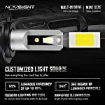 NOVSIGHT H7 10000LM LED Headlight Bulbs Conversion Kit.High Beam Headlamp,Fog Light, HID or Halogen Headlight…