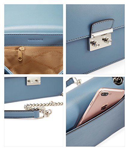 Borsa tracolla EMINI a Medium HOUSE Lightskyblue donna tqq586x1