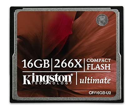 Amazon.com: Kingston Ultimate 16 GB 266x CompactFlash Memory ...