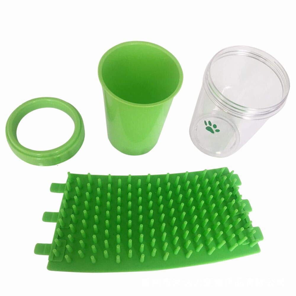 Pet Foot Cup Creative Silicone Dog Claw Cleaning Supplies Convenient Environmentally Friendly Detachable Double Body New Powder bluee Green,Green