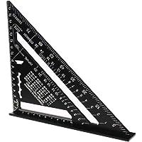 driehoekige liniaal, 7 inch (17,8 cm) driehoekige gradenboog, aluminium driehoekige liniaal, zwarte aluminiumlegering…