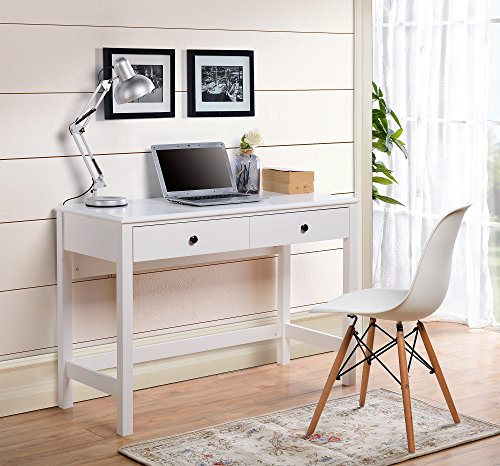 Home Star Writing Desk - HOMESTAR Othello Writing Desk with Single Drawer in Finish, White