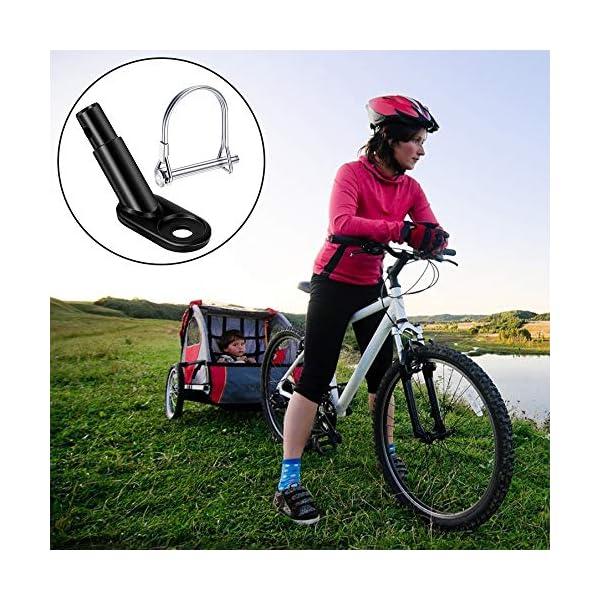 51qyE9DVmzL Valeny Fahrradanhänger Kupplung, 2 Stück Fahrrad Anhängerkupplung mit Sicherungsstift für Kinderanhänger Fahrradanhänger…