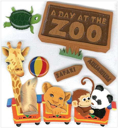 Jolee's Boutique A Day at the Zoo Dimensional Stickers - Stickers Zoo Scrapbook