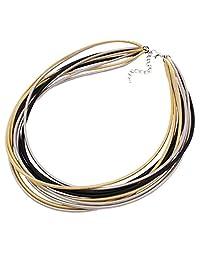 Women Chunky Choker Collar Multi Strands Chain Necklace New