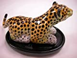 Animal Tracks Miniature Porcelain Animal Leopard Salt & Pepper Shaker Set #SAP1103