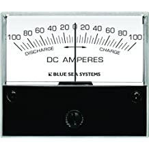 Blue Sea 8253 DC Zero Center Analog Ammeter (2 3/4-Inch Face, 100-0-100 Amperes DC)