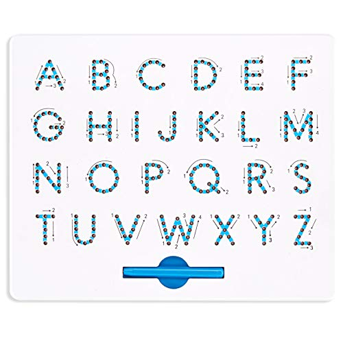 [해외]Magnetic Letter Board by California Toys - Writing Board for Kids - Alphabet Drawing BoardUpper Case Letters - User-Friendly Magnetic StylusStorage Slot - Educational and Interactive / Magnetic Letter Board by California Toys - Wri...