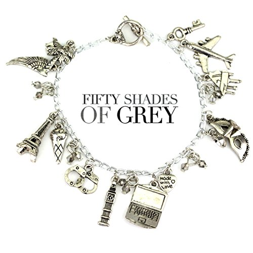 Jewelry Shades (50 Shades of Grey Movie Inspired Jewelry Collection Assorted Metal Charm BRACELET by superheroes Brand)