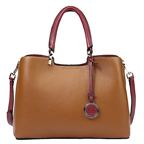 Genuine Leather Handbags Women's Handbags With Top Handle Brown Card Holders Clutches