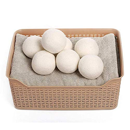 hellvery Washing Machine Saves Drying Time Natural Reusable Laundry Wool Dryer Balls Laundry Bags