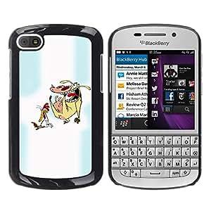 PC/Aluminum Funda Carcasa protectora para BlackBerry Q10 Cartoon Characters Chicken Cow Animals Art / JUSTGO PHONE PROTECTOR