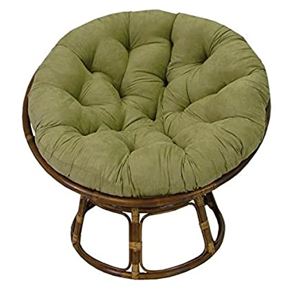Rattan Papasan Chair with Cushion  sc 1 st  Amazon.com & Amazon.com: Rattan Papasan Chair with Cushion: Kitchen u0026 Dining