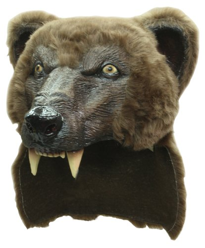 Brown Grizzly Bear Helmet Mask Costume
