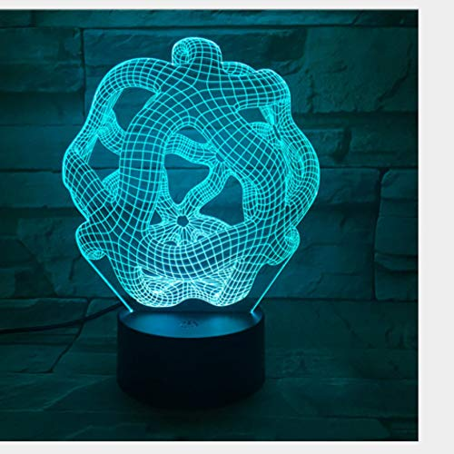 kkkmb 3D Night Light New Abstract 3D Visual Lamp Multicolored Bluetooth Audio Touch Led Lamp Creative Gift Night Lamp