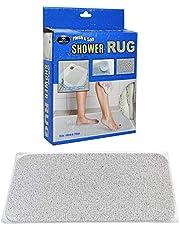 2X Anti Slip Loofah Shower Rug Bathroom Bath Mat Carpet Water Drains Non Slip