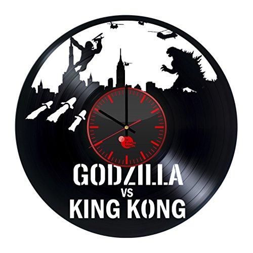 King Kong vs Godzilla Vinyl Record Wall Clock - Get unique k