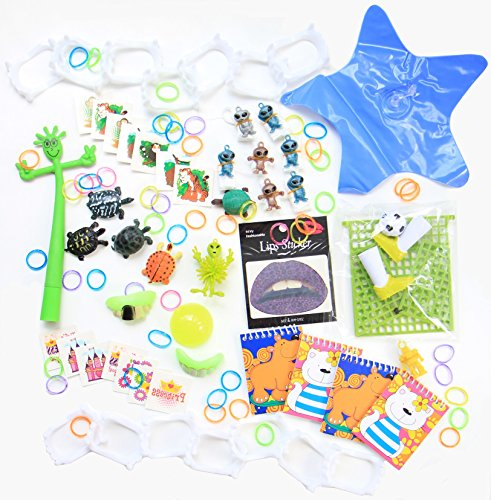 Party Prizes For Kids 100+ Piece Toy Assortment for Birthday Parties, School Classroom Rewards, Carnival Prizes, Halloween, and (Forest School Halloween Activities)