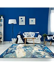 Decomall Area Rug Modern Geometric Rug for Living Room Bedroom Abstract Home Decor Floor Waltz Carpet