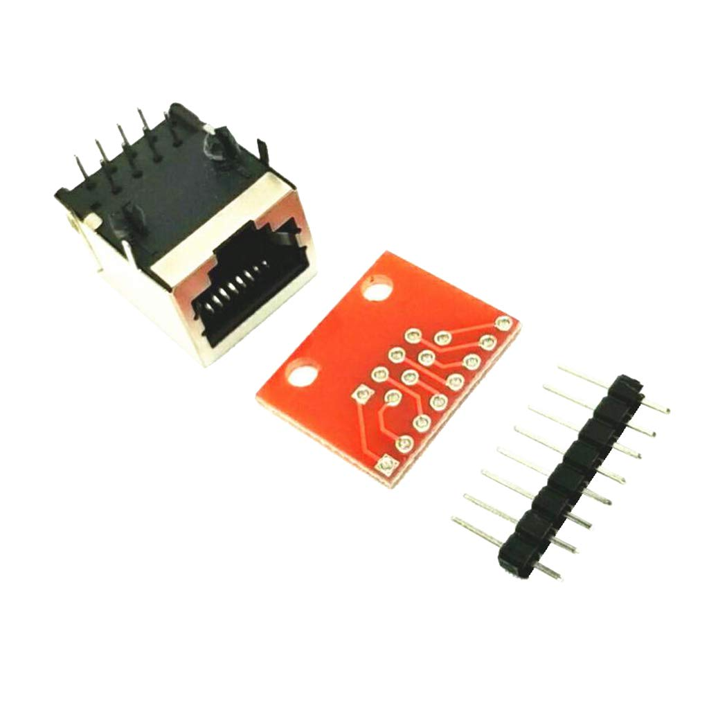 VANKOA 20 X RJ45 Connector PCB And Breakout Board Kit Check Ethernet Not Weld
