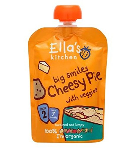 Ella'S Kitchen Big Smiles Cheesy Pie With Veggies Stage 2 From 7 Months 130G - Pack of 2 by Ella's Kitchen