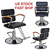 LEAGUE&CO Adjustable Hydraulic Barber Chair Shampoo Spa Beauty Salon Styling Equipment