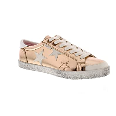 Superdry Super Sleek Logo Lo - Rose Gold (Man-Made) Womens Trainers