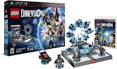 Lego Dimensions Starter Pack + Adventure Time Finn The Human Level Pack + Jake The Dog Team Pack + Marceline The Vampire Queen Fun Pack for Playstation 3 or PS3 Slim Console by WB Lego (Image #1)