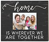 Kindred Hearts 13.7''x11.7'' Home Is Where Black Weathered Photo Frame