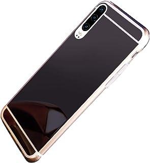 JAWSEU Cover Huawei P30 Specchio,Custodia Huawei P30 Silicone TPU Placcatura Cristallo Scintillio Diamante Glitter Sottile Flessibile Morbida Gel Cover Antiurto Bumper Case Copertura,Argento