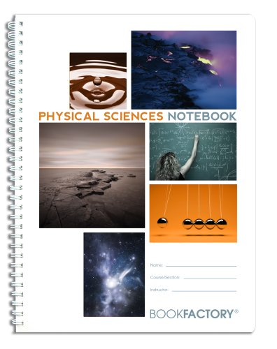 """BookFactory Physical Sciences Lab Notebook/Laboratory Notebook - 75 Pages - Scientific Grid Pages, Translucent Cover, Wire-O Binding - Page Size: 8 ½"""" x 11"""" (LAB-075-7GW (Physical Sciences))"""