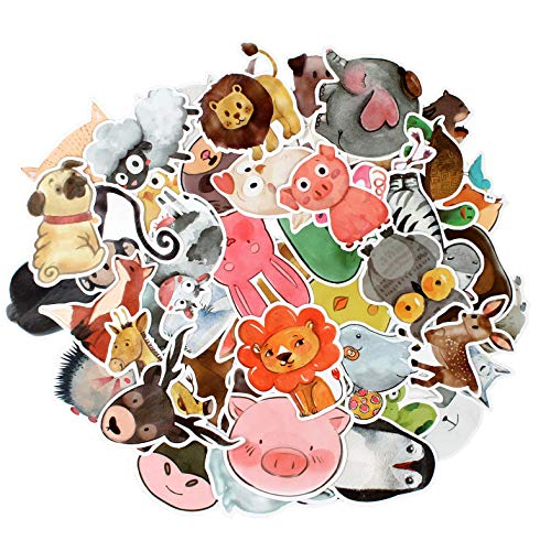 Sticker Decals - 50 Pcs Cartoon Animals Laptop Stickers Car Sticker for Snowboard Motorcycle Bicycle Phone Mac Computer DIY Car Window Bumper Luggage Decal Graffiti Patches (50 Pcs Cartoon Animals)