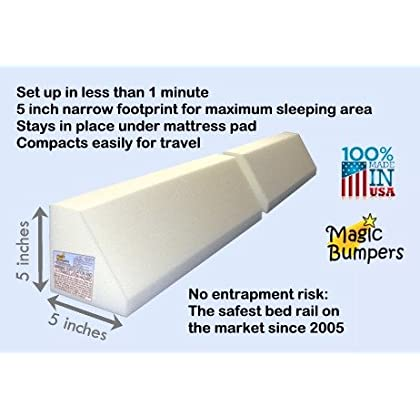 Pack Magic Bumpers Child Bed Safety Guard Rail 48 Inch