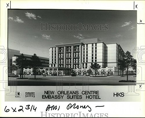 1990 Press Photo Drawing Of New Orleans Centre Embassy Suites Hotel   Nob09508